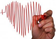 Herz mit Hand Herzschlag