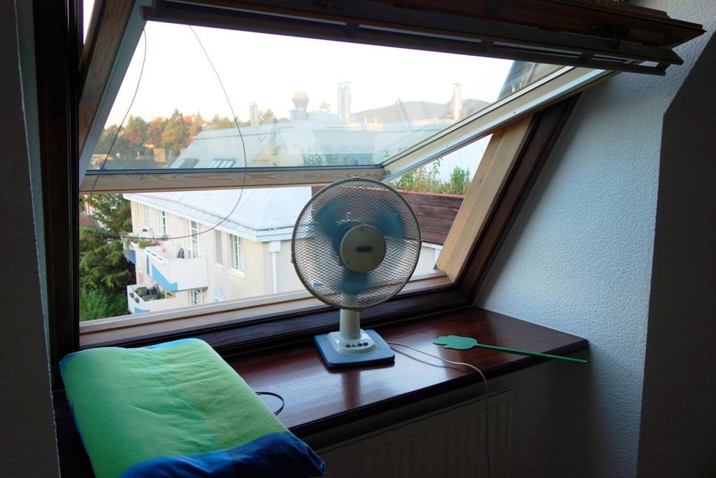Hitzewelle – Ventilator kühlt