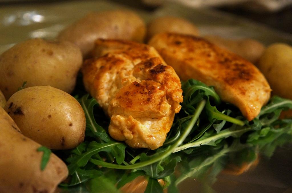 Hühnerbrust mit Kartoffel