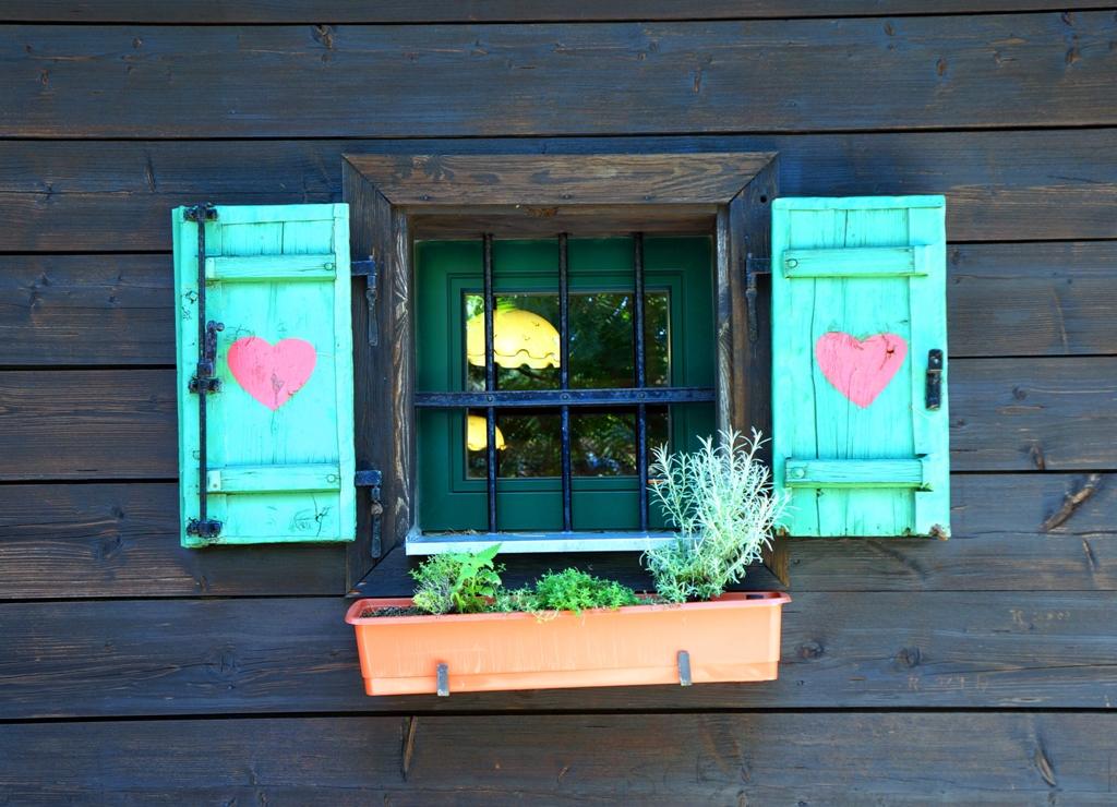 Hütte mit Herz