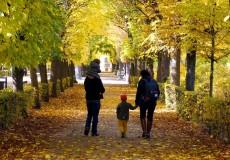 Herbstausflug für junge Familie