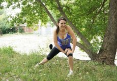 Junge Frau Fitness Sport