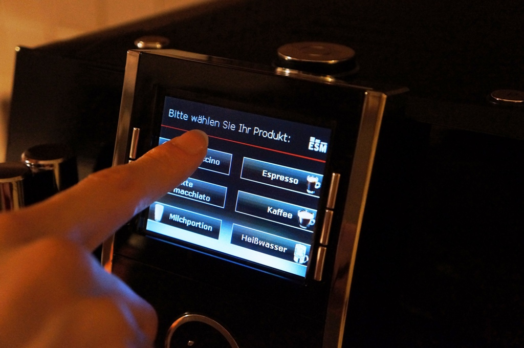 Kaffeemaschine Produktauswahl