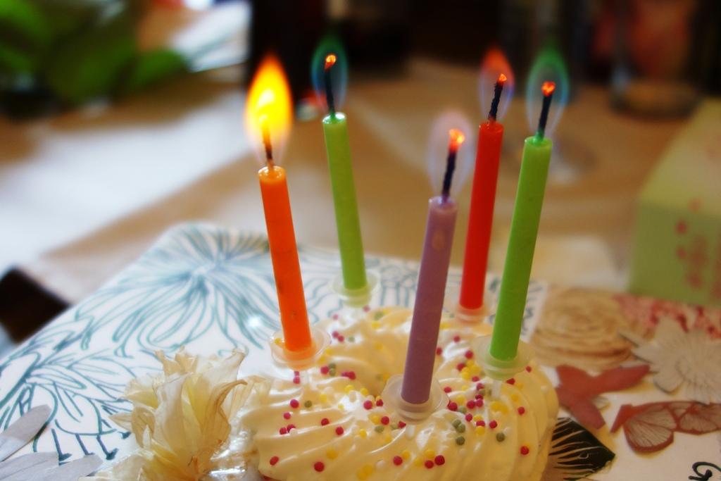 Kuchen und Kerzen
