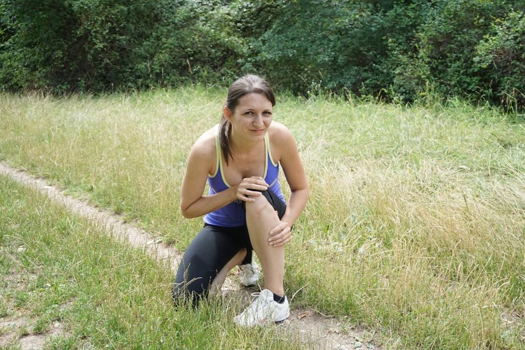 Knieverletzung beim Training