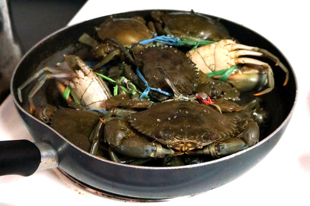 Krabben werden gekocht