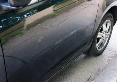 Kratzer im Lack Auto