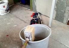 Baustelle Maler Pinsel