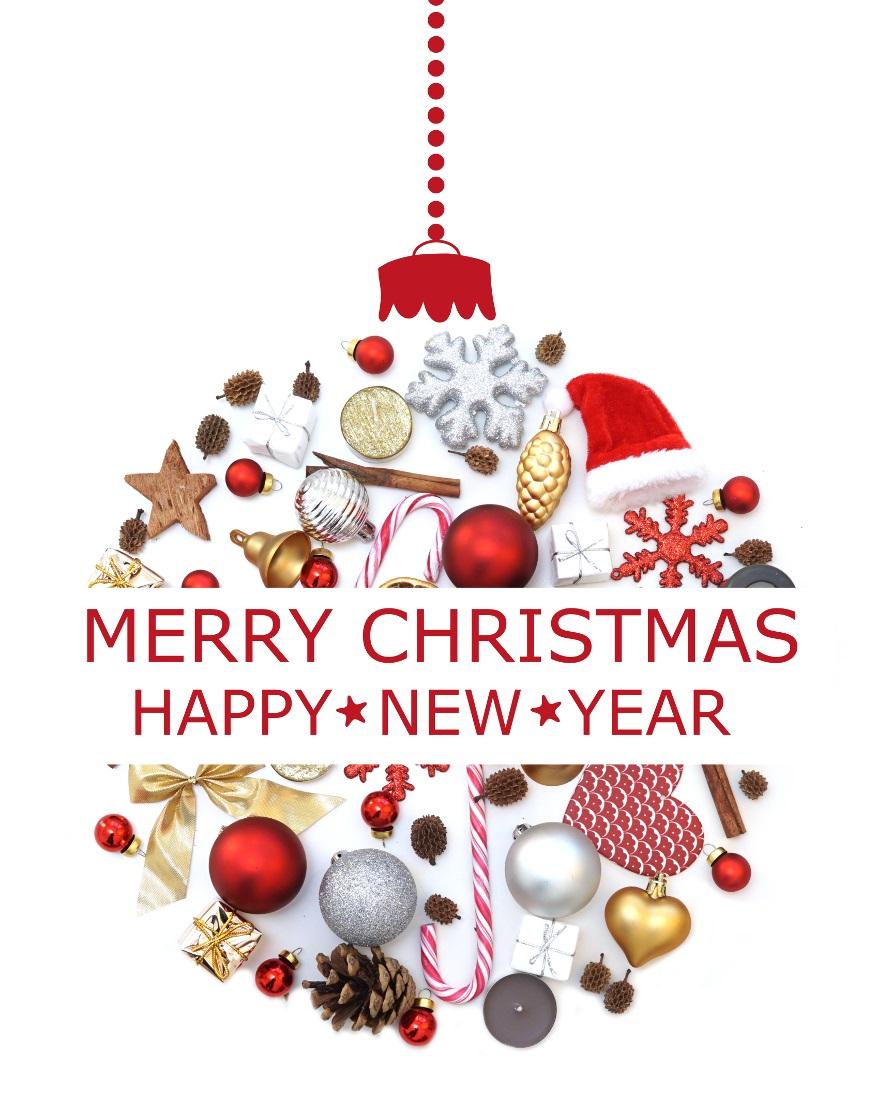 Merry christmas happy new year lizenzfreie fotos for Merry christmas bilder