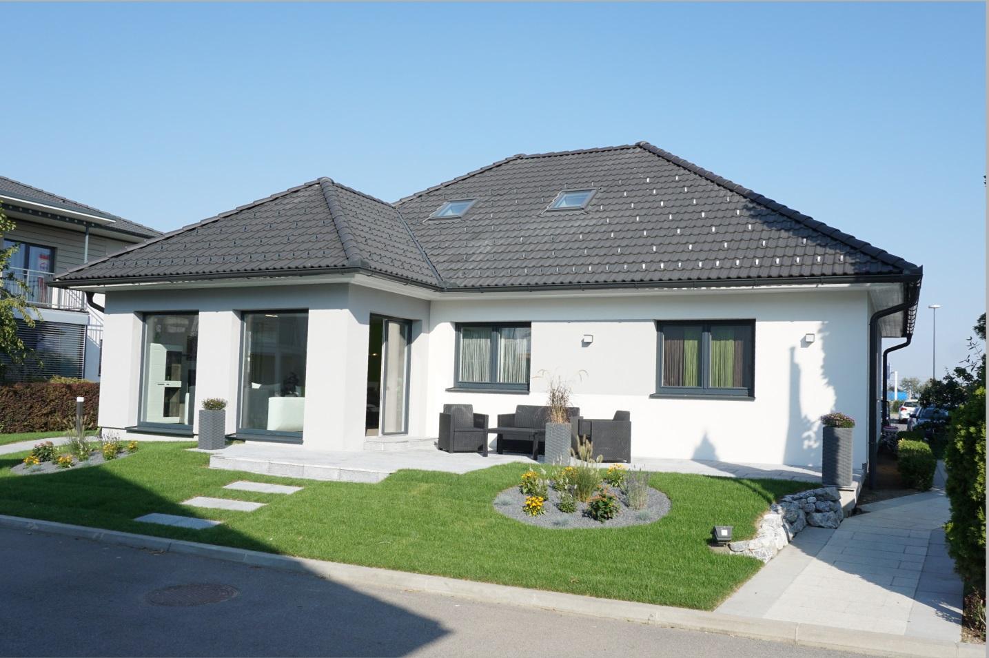 Ein modernes Einfamilienhaus