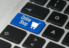 Online Shop blau