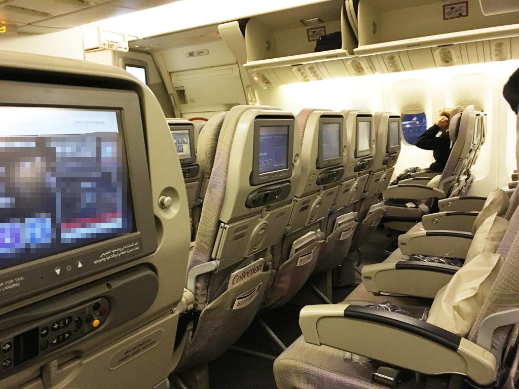 Passagierkabine im Flugzeug