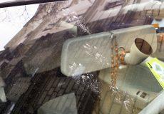 Pfotenabdrücke auf der Windschutzscheibe – Marder / Katze