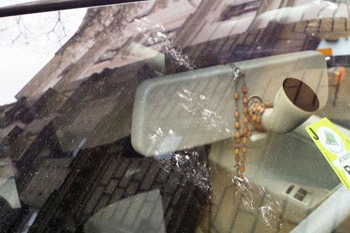 pfotenabdr cke auf der windschutzscheibe marder katze. Black Bedroom Furniture Sets. Home Design Ideas