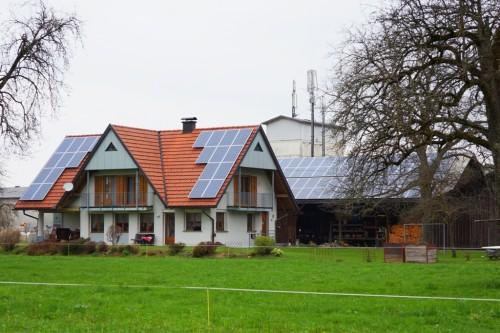 Bauernhof mit Photvoltaik