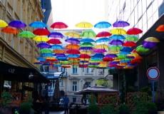 QP Lounge Belgrad Regenschirme