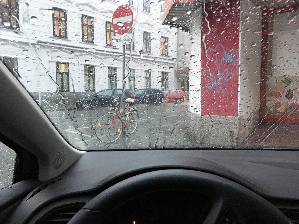 Regen schlechte Sicht