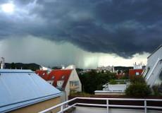 Regenwolken Unwetter