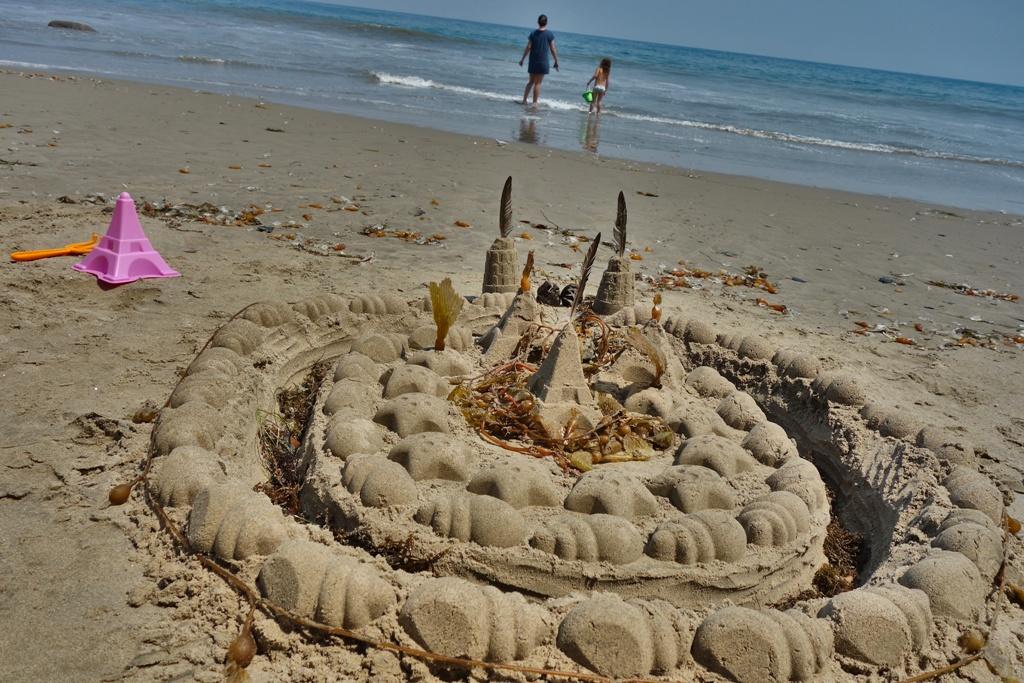 Sandburg bauen Strand
