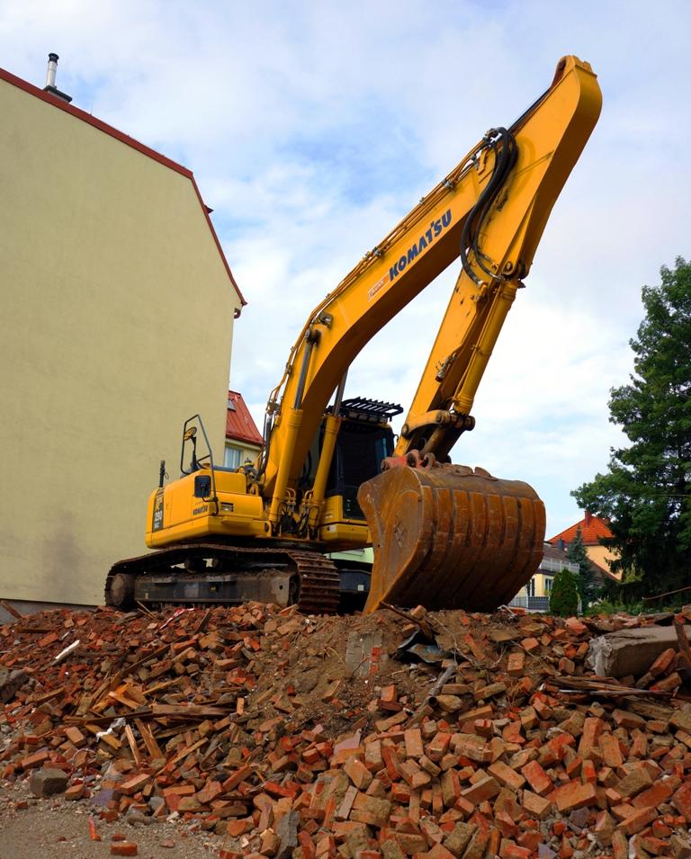 Baustelle Schaufelbagger