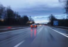 Autobahn – schlechte Sicht
