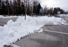 Parkplatz Schneeräumung