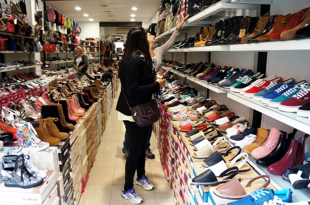 Schuhgeschäft Shopping