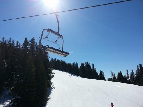 Skifahren Sessellift Patscherkofel