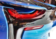 Sportwagen Elektromobilität Stromtankstelle
