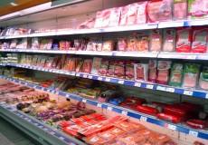 Supermarkt Fleisch Wurst Tiefkühl