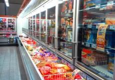 Supermarkt Kühlfach Tiefkühl