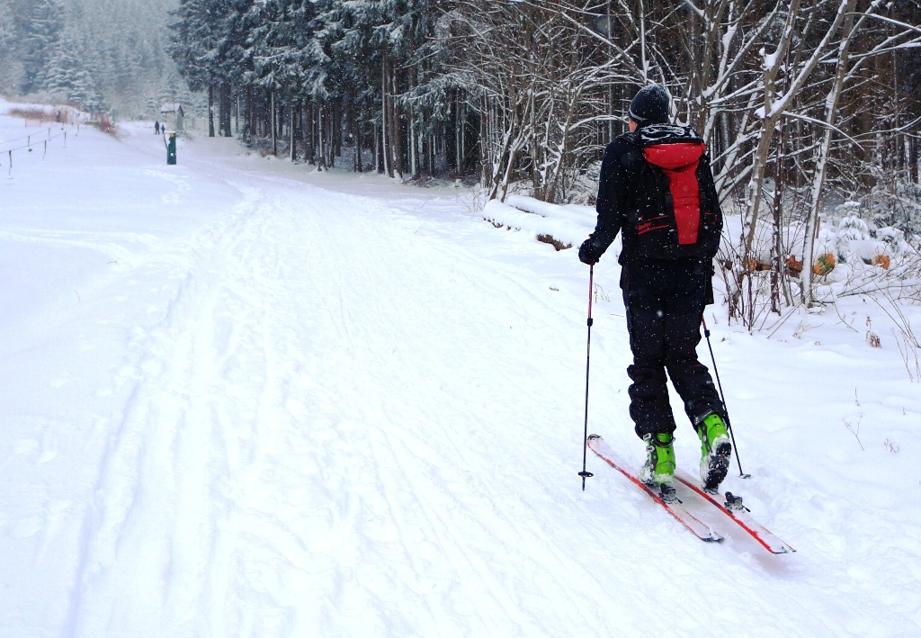 Tourengehen Winter Schnee