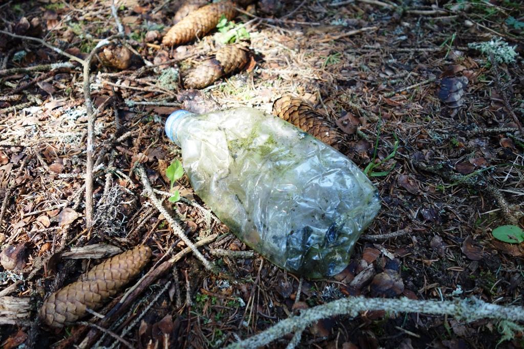 Umweltverschmutzung PVC Flasche