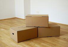 Umzugskartons, Kisten, Übersiedlung