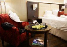 Unordentliches Hotelzimmer