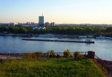 Aussicht auf USCE Tower in Belgrad