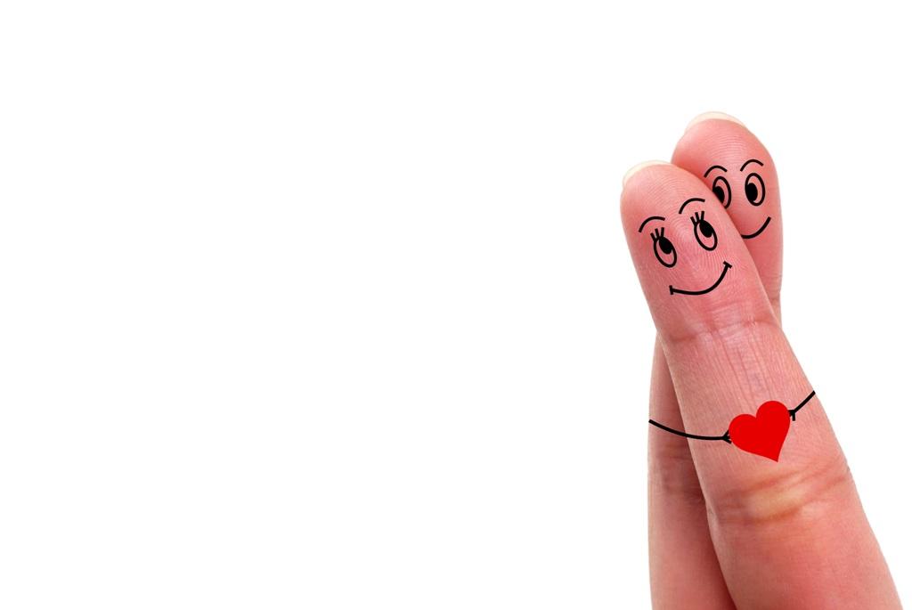 Valentinstag / Das ist Liebe Finger