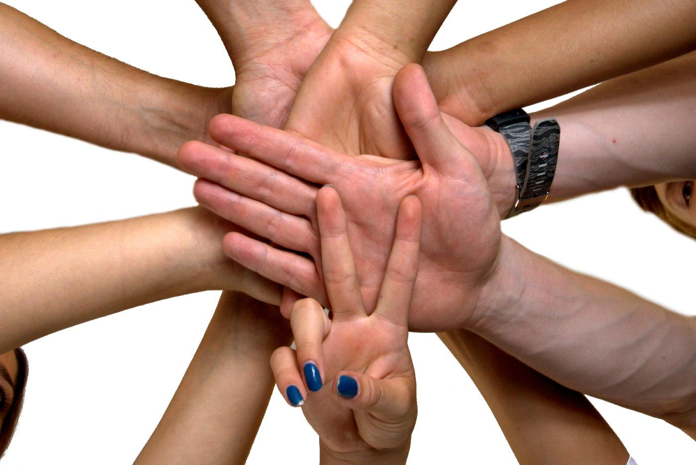 Victory – Hände stapeln für Erfolg / Einsatz