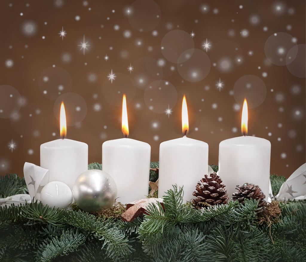 Vierter 4 Advent Kerze Bilder