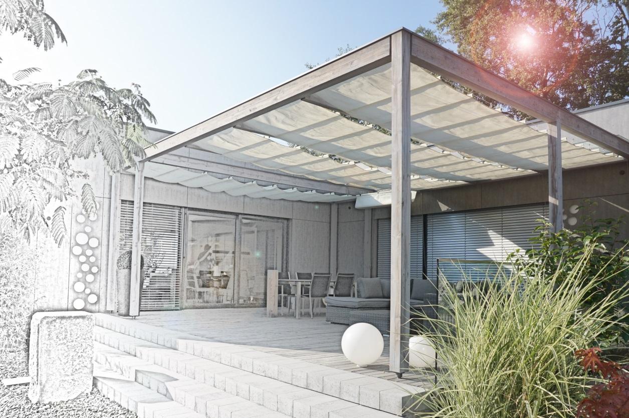 Von der Zeichnung / Plan zur fertigen Terrasse