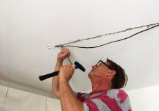 Wand aufstemmen Kabelkanal