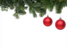 Weihnachtsbaum / Weihnachten mit roten Kugeln