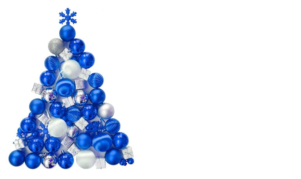 Weihnachten – Weihnachtsbaum aus blauen Kugeln