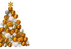 Weihnachten – Weihnachtsbaum aus goldenen Kugeln