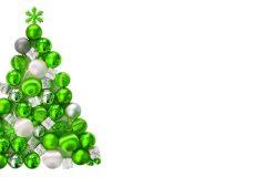 Weihnachten – Weihnachtsbaum aus grünen Kugeln