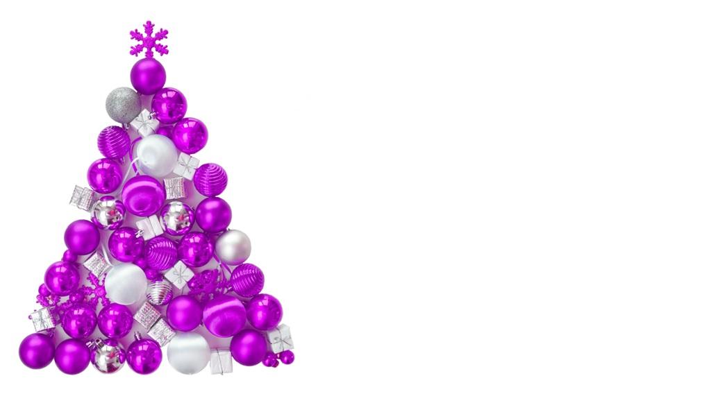 Weihnachten – Weihnachtsbaum aus pinken Kugeln