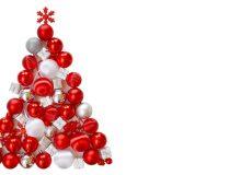 Weihnachten – Weihnachtsbaum aus roten Kugeln