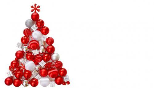 weihnachten weihnachtsbaum aus roten kugeln. Black Bedroom Furniture Sets. Home Design Ideas