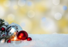 Weihnachtsdeko mit Textfreiraum