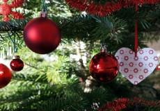 Weihnachtskugeln Rot 1